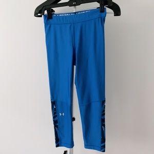Under Armour Blue Capri Leggings Workout Pants Sma